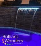 Brilliant Wonders LED Waterfalls 12 in. TAN