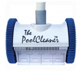 Poolvergnuegen PoolCleaner 2-Wheel Inground Suction Side Cleaner White Blue