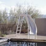 Interfab City 2 Pool Slide Left Turn - Tan