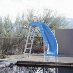 Interfab City 2 Pool Slide Left Turn - Blue