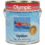 OPTILON Synthetic Rubber Paint for Plaster and Concrete, Black 1 Gal.