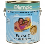 PARALON 2 Rubber-Base Pool Paint for Plaster and Concrete, White 1 Gal.