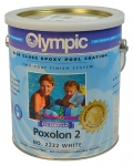 POXOLON 2 Epoxy Pool Coating for Plaster, Concrete and Metal Surfaces - White 1 Gal.