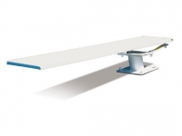 SR Smith Cantilever Jump Stand and Frontier III Board Complete | 6' Radiant White
