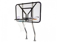 Commercial basketball game | 1.09 Stanless Steel Dual-Posts | With Anchors