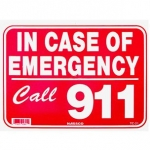 Emergency Call 911 Sign 9 inches x 12 inches