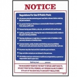 Public Pool Rules Sign 18inches x 24inches