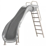 SR Smith Rogue2 Left Turn Pool Slide, Gray