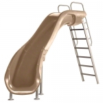 SR Smith Rogue2 Left Turn Pool Slide, Taupe