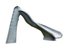 SR Smith Turbo Twister Pool Slide Right Curve Gray Granite