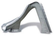SR Smith Typhoon Left Turn Pool Slide -  Grey Granite