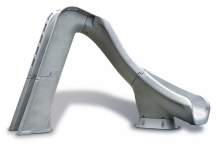 SR Smith Typhoon Right Turn Pool Slide -  Grey Granite
