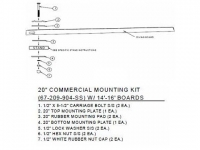 SR Smith 20 Inch Commercial Board Mounting Kit - 67-209-904-SS