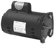 AO Smith 1.5 HP Energy Efficient Motor B2842, 56Y Square Flange, Threaded Shaft 230V