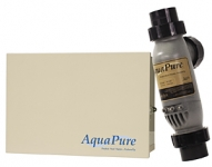 AQUAPURE Salt Chlorine Generator with PLC1400 Cell Kit 40K capacity with Metal Enclosure