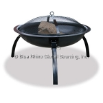 UniFlame WAD996SP Black Outdoor Portable Firebowl with Folding Legs and Carrying Case