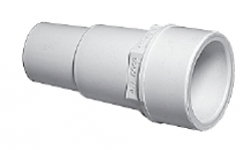 Plumbing - Fittings - Hose Adapters - Hose Fitting Adapter 1 1/2 in Spigot x 1 1/4 Hose White
