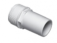 Plumbing - Hose Adapters - Male Smooth Adapter 1 1/2 in MPT x 1 1/2 Hose White