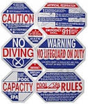 8 Way California Pool Safety Sign - Lowest Online Price Guaranteed