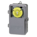 Plastic T100 Series Mechanical Time Switch, 125V SPST Switch, See Through Plastic Enclosure