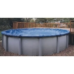 Arctic Armor Above-Ground 12' x 24' Oval Winter Cover with 12 Year Warranty, Cover Size (16' x 28')