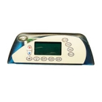 Sundance Spas Electronic Spa Controls, Topside 850 Maxxus Panel Grey Control Panel