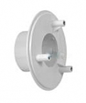 AquaStar 4 in Sumpless Bulkhead Fitting with 2 in Slip Insider WHITE