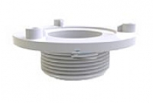 AquaStar 4 in Retrofit Sumpless Bulkhead Fitting with Extended 1.5 in MPT WHITE