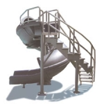 SR Smith Vortex Slide with Closed Flume and Ladder- Gray Granite