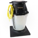 Chlorine Container with Tank Mounted Pump