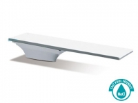 SR Smith Flyte-Deck II Stand and Fibre-Dive Board Complete   6' Radiant White