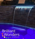 Brilliant Wonders LED Waterfalls 12 in. TAN