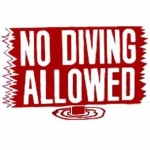 No Diving Allowed Sign 12 inches x 18 inches