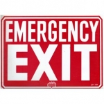 Emergency Exit Sign 9 inches x 12 inches