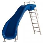 SR Smith Rogue2 Left Turn Pool Slide, Blue