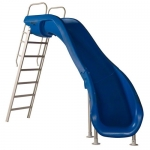 SR Smith Rogue2 Right Turn Pool Slide, Blue