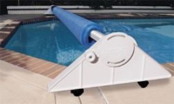 EMX Economy residential reel for In Ground pools - 12 to 20 ft. wide and 45ft long, caster and anodized tube
