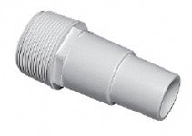 Plumbing - Fittings - Hose Adapters - Hose Fitting 1 1/2 in MPT x 1 1/4 Hose White
