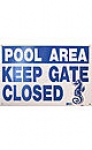 SIGN PLEASE KEEP GATE CLOSED