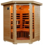 Santa Fe - 3 Person Corner Infrared Sauna with Carbon Heaters (Free Shipping)