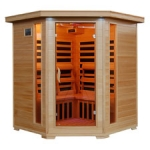 Tuscon - 4 Person Corner Infrared HeatWave Sauna with Carbon Heaters (Free Shipping)