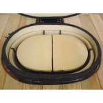 Ceramic Heat Reflector Plate for Oval XL (2 per box, Roaster Drip Pan Racks Required)