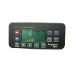 Sundance Spas Electronic Spa Controls, Topside 850 Export Panel with Dual Harness