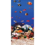 "Swimline 8' X 12' Oval Ocean Reef Overlap Liner, 48-52"" Depth, Standard Gauge (Click for more sizes)"