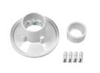 AquaStar Sumpless Bulkhead Fitting with 2 in Socket and 1.5 in Reducer Bushing for 4HP or 6HP WHITE