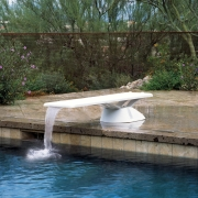 Inter-Fab Edge aquaBoard 4-Hole Diving Board 8' Blue with White Top Tread - EDGE8BW