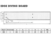 Inter-Fab Edge aquaBoard 4-Hole Diving Board 6' Blue with White Top Tread - EDGE6BW