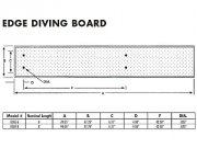 Inter-Fab Edge aquaBoard 4-Hole Diving Board 6' Tan with Tan Top Tread - EDGE6-7