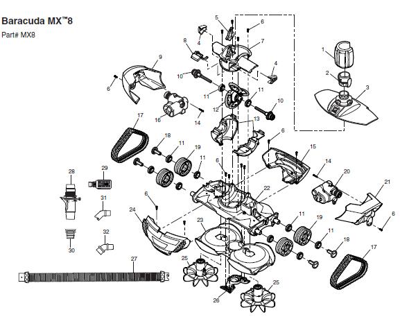 Baracuda Mx8 Parts