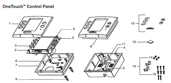 jandy onetouch control panel